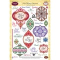 "JustRite Stampers 6""X8"" Clear Stamp Set-Noel Christmas Ornaments 34pc"