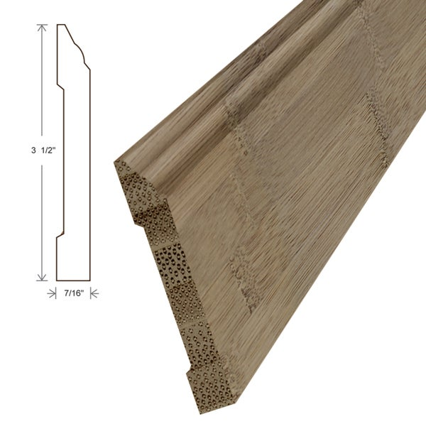 Unfinished Bamboo Carbonized Horizontal Wall Base Boards (Set of 5)