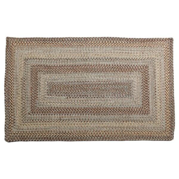Aquamarine Braided Wool Rug (4' x 6')