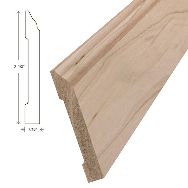 Unfinished Cherry Wall Base Boards (Set of 5)
