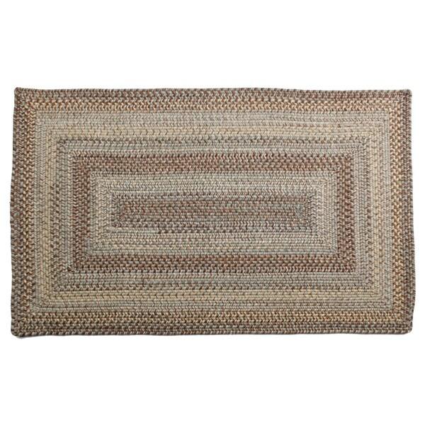Aquamarine Braided Wool Rug (2'3 x 3'9)