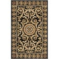 Safavieh Handmade Versailles Black New Zealand Wool Rug