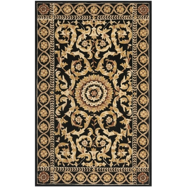 Safavieh Handmade Versailles Black New Zealand Wool Rug