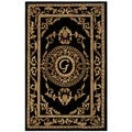 Safavieh Handmade Monogram G Black New Zealand Wool Rug