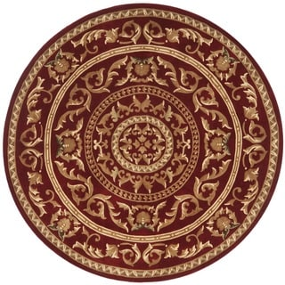Safavieh Handmade Gardens Red New Zealand Wool Rug