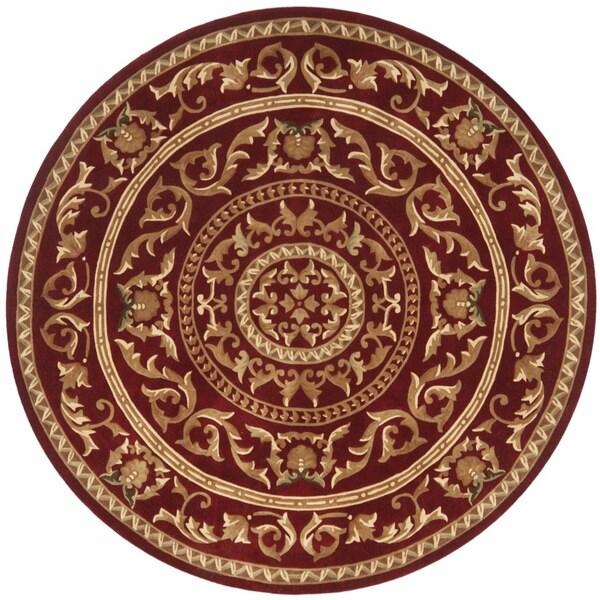 Safavieh Handmade Gardens Red New Zealand Wool Rug