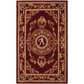 Safavieh Handmade Monogram A Red New Zealand Wool Rug