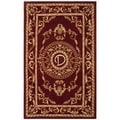 Safavieh Handmade Monogram D Red New Zealand Wool Rug