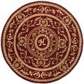 Safavieh Handmade Monogram H Red New Zealand Wool Rug