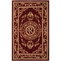 Safavieh Handmade Monogram R Red New Zealand Wool Rug