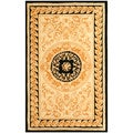Safavieh Handmade Scrolls Yellow New Zealand Wool Rug
