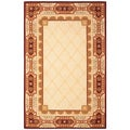 Safavieh Handmade Trellis Beige New Zealand Wool Rug