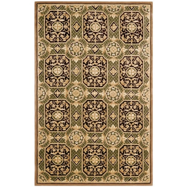 Safavieh Handmade Gaze Green New Zealand Wool Rug