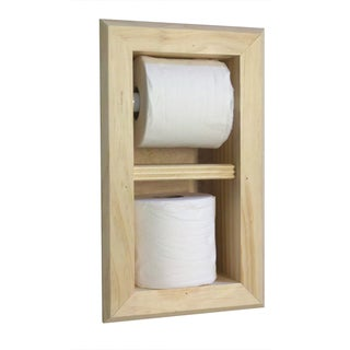 Bevel Frame Toilet Paper Holder with Spare Roll