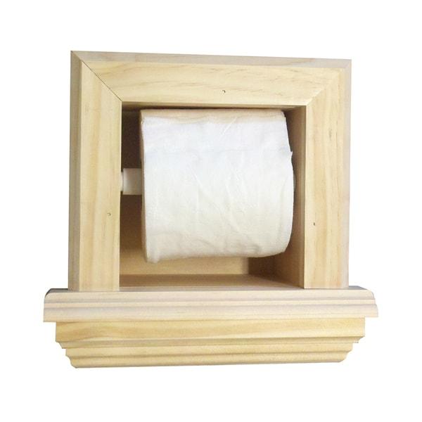 Bevel Frame Toilet Paper Holder with Ledge
