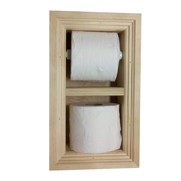 Recessed Toilet Paper Holder with Spare Roll