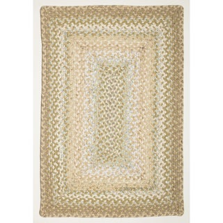 Celebration Beige Braided Rug (2' x 3')