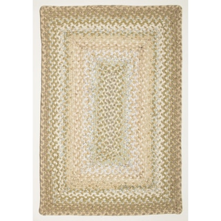 Celebration Beige Braided Rug (2&#39; x 3&#39;)