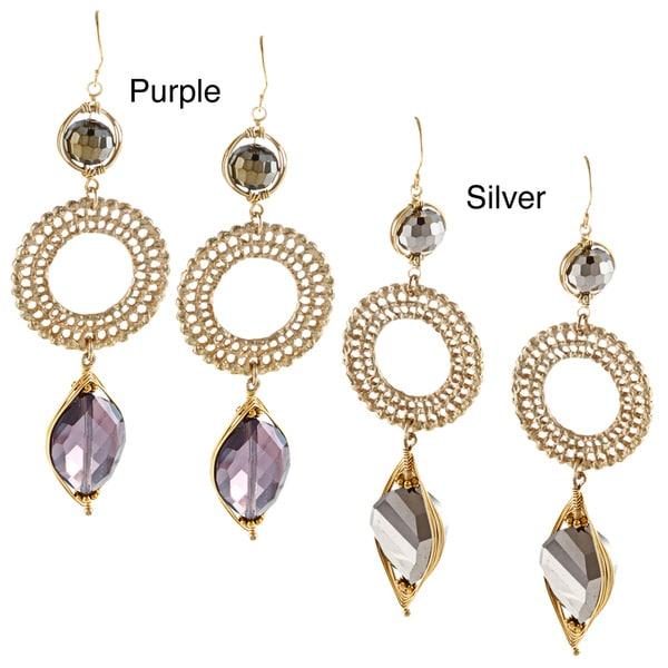Crystal Triple Drop Earrings