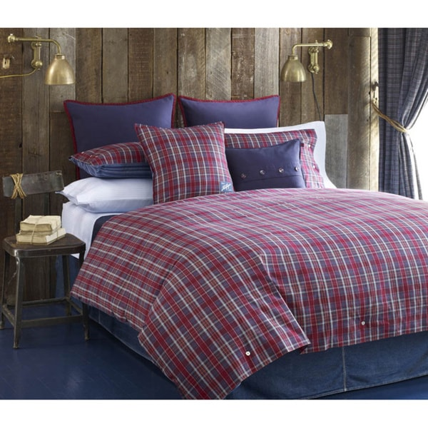 Tommy Hilfiger Bear Mountain Plaid Tartan 3-Piece Duvet Cover Set