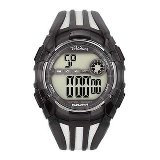 Tekday Men's Black Plastic Digital Sport Watch