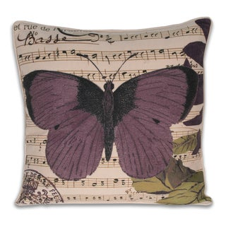Thro French Paradise Butterfly Pillow