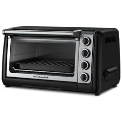 KitchenAid RKCO111OB Onyx Black 10-inch Countertop Oven (Refurbished)
