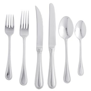 Maison Luxe 18/10 'Euro Bead' 77-piece Flatware Set