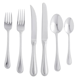 St. James 18/10 'Euro Bead' 77-piece Flatware Set