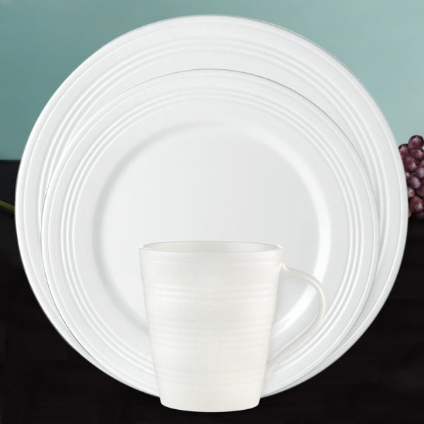 Lenox 'Tin Can Alley' 4-degree 12-piece Dinnerware Set