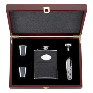 Gorham 'That's Entertainment' Brown 5-piece Flask Set