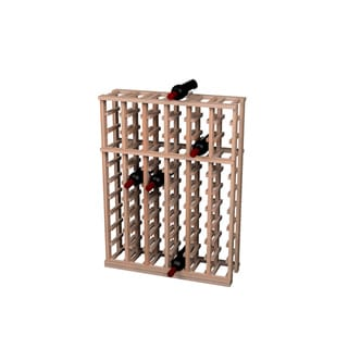 Traditional Redwood 6 Column Half Height Wine Rack