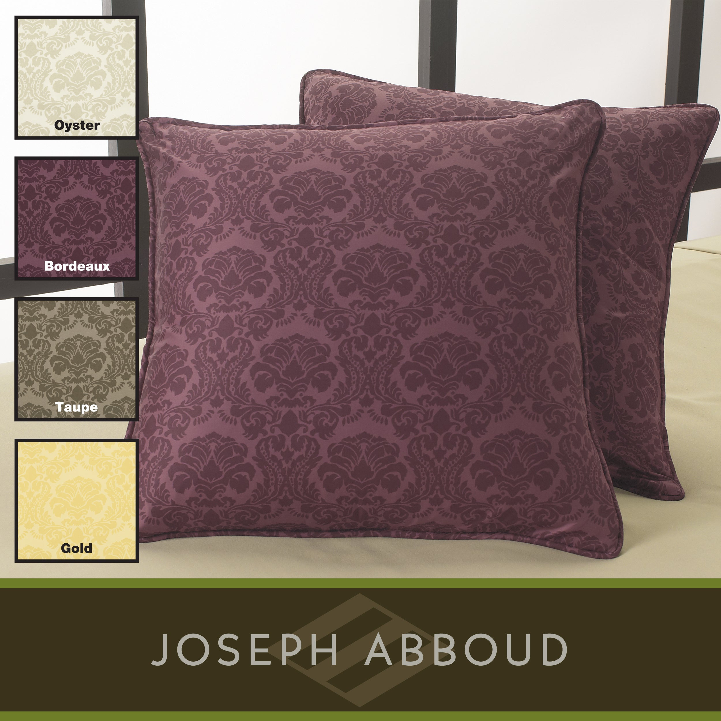 Joseph Abboud 350 Thread Count Decorative Feather Pillows (Set of 2)