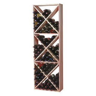 Traditional Redwood Wine Rack Solid Diamond Cube