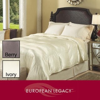 European Legacy 700 Thread Count Silk Blend Down-like Comforter