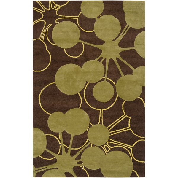 Jef Designs Hand-tufted Denton Geometric Wool Rug (2' x 3')