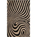 Hand-tufted Ashburton Abstract Design Wool Rug (2' x 3')