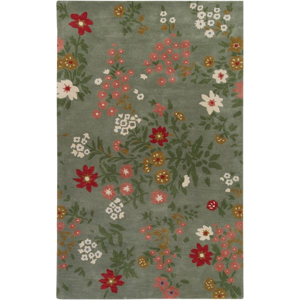 Paule Marrot Hand-tufted Culver Floral New Zealand Wool Rug (2' x 3')