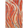 Hand-tufted Bimberamala Abstract Design Wool Rug (2' x 3')