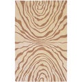 Hand-tufted Billings Abstract Design Wool Rug (2' x 3')