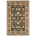 Hand-knotted Banks Semi-worsted New Zealand Wool Rug (2' x 3')