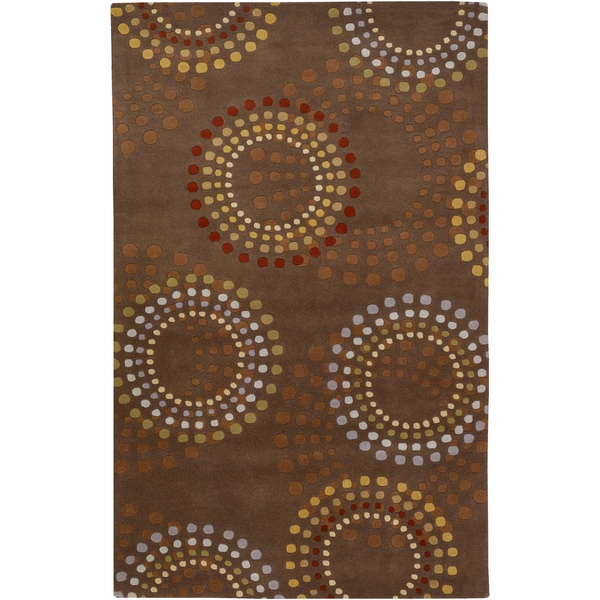 Hand-tufted Mart Geometric Circles Wool Rug (2' x 3')