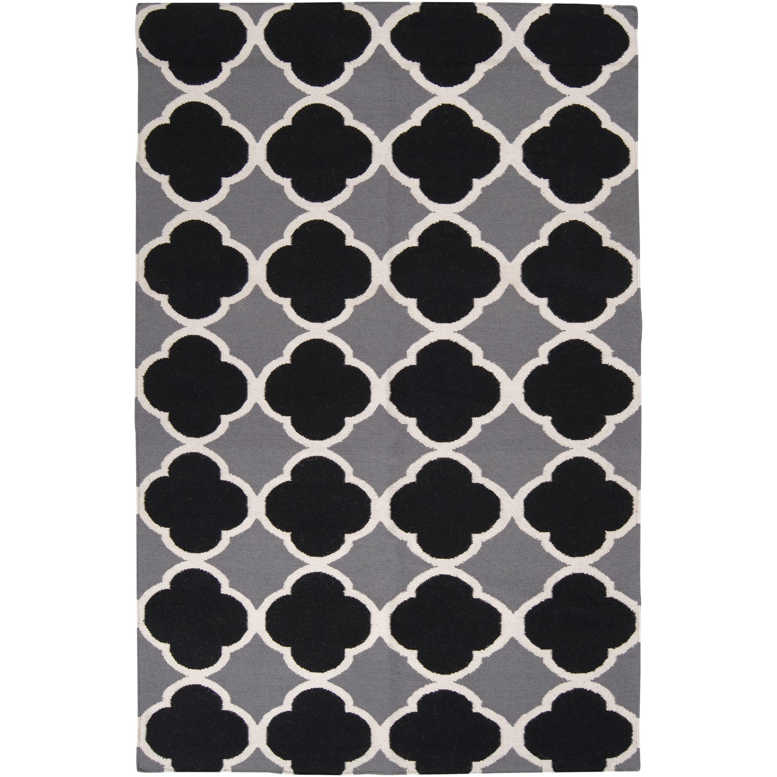 Hand-woven Lobo Grey Wool Rug (2' x 3')