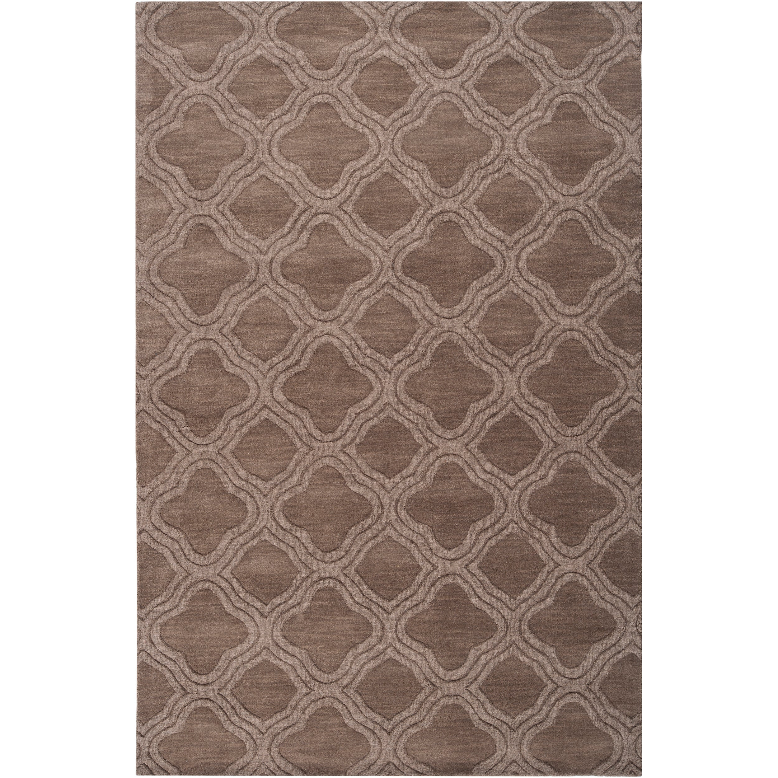 Hand-crafted Brownough Natural Wool Rug (2' x 3')