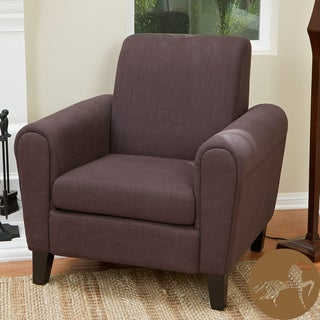 Christopher Knight Home Watson Brown Fabric Club Chair