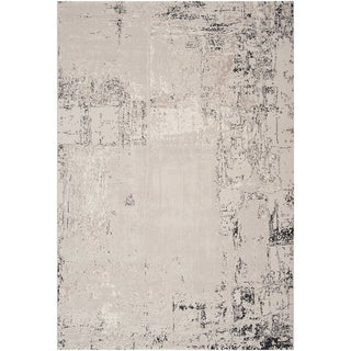 Dumas Grey Abstract Design Rug (2'2 x 3'3)