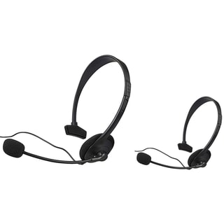 BasAcc Black Headset with Microphone for Microsoft xBox (Pack of 2)