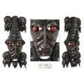 Handcrafted Sese Wood 'Wisdom of Two' African Mask (Ghana)