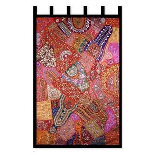Handcrafted Cotton 'Autumn Splendor' Wall Hanging , Handmade in India