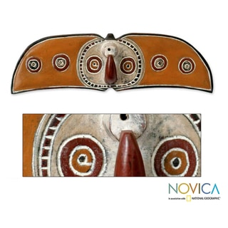 Sese Wood Handcrafted 'Bwa Celebration' Africa Tribal Mask (Ghana)